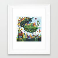 snail Framed Art Prints featuring Snail by Annabies