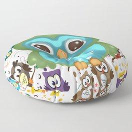 CUTE PLAYFUL OWL Floor Pillow