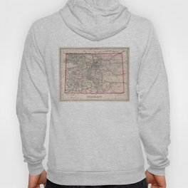 Vintage Map of Colorado (1884) Hoody