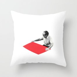 Black and White and Red All Over 6 Throw Pillow