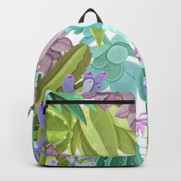 Tropical Cactus Pattern Backpack