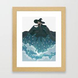 Pick the night up Framed Art Print