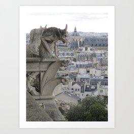 Gargoyle, Notre Dame, Paris Art Print