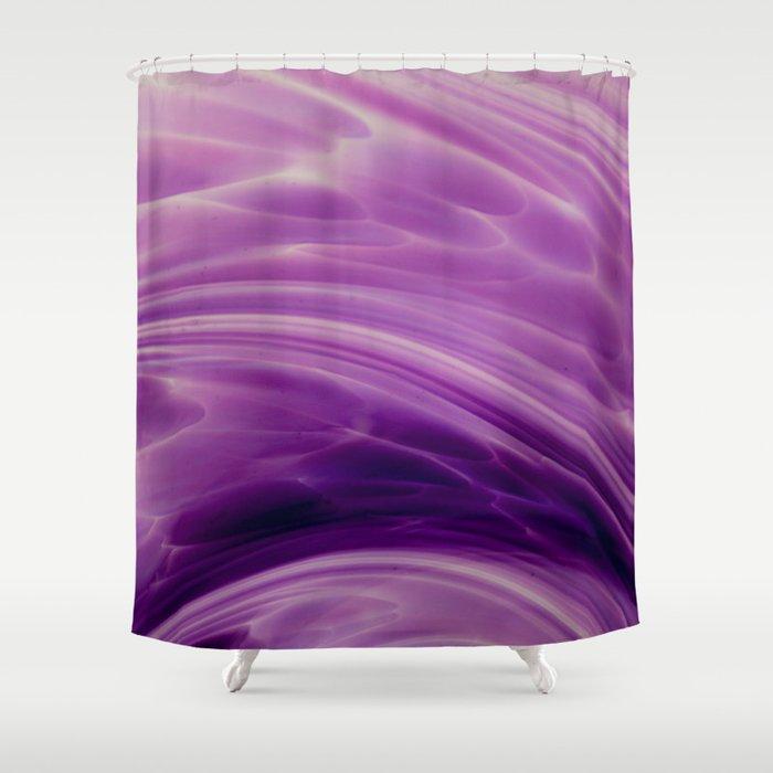 Violet Paths Shower Curtain