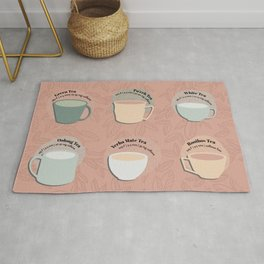 Time for Tea Cups Rug