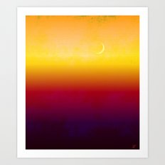 Moon Over The Desert Art Print