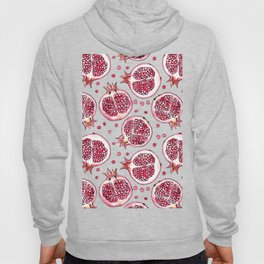 Pomegranate watercolor and ink pattern Hoody