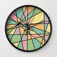 stained glass Wall Clocks featuring Stained Glass by Tammy Kushnir