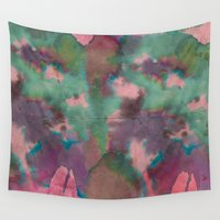 tie dye Wall Tapestries featuring Pink Tie-dye by Marcelo Romero