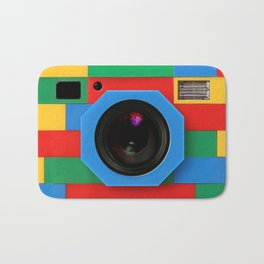 rainbow retro classic vintage camera toys Bath Mat