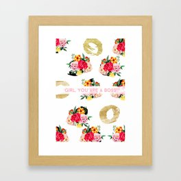 Girl, You Are A Boss Framed Art Print