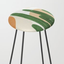 Abstract Cactus I Counter Stool