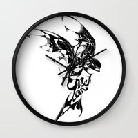 freedom Wall Clocks featuring Freedom by KUI29
