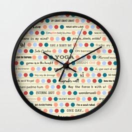 Inspiring Words Yellow Wall Clock