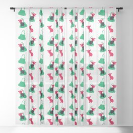 Angry animals: chihuahua - little green bag Sheer Curtain
