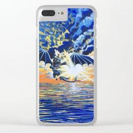 Dragon Flight Clear iPhone Case