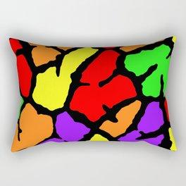 Rainbow Giraffe Print Rectangular Pillow