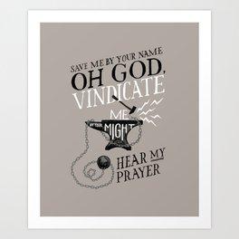 Psalm 54 Art Print