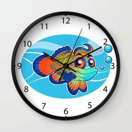 mandarin fish cartoon Wall Clock