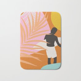 Noon Surfer Abstract Minimalism #1 #minimal #decor #art #society6 Bath Mat