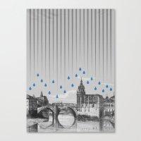 La lluvia en Bilbao es una pura maravilla Canvas Print
