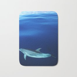 Dolphin, blue and sea Bath Mat
