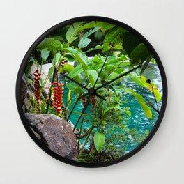 Dreamy Garden Views Wall Clock