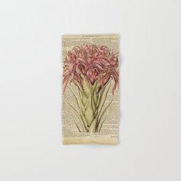 Book Art Page Pink Flower Hand & Bath Towel