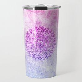 Watercolor Mandala Travel Mug