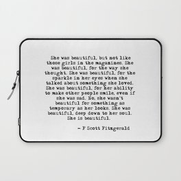 She was beautiful Laptop Sleeve
