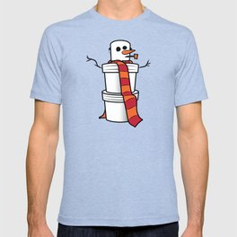 Bucket Snow Man T-shirt