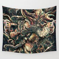 lovecraft Wall Tapestries featuring Azathoth by TheMagicWarrior