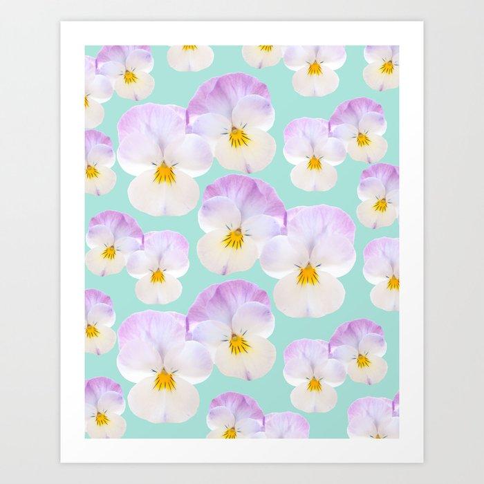 Pansies Dream #1 #floral #pattern #decor #art #society6 Kunstdrucke