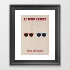 22 Jump Street Minimalist Poster Framed Art Print