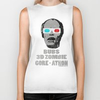 gore Biker Tanks featuring Bubs 3D Zombie Gore-athon by Iamzombieteeth Clothing