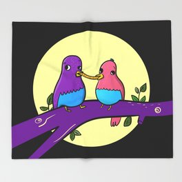 Bird and the tramp Throw Blanket