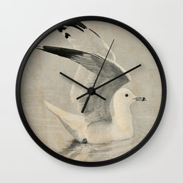 Vintage Illustration of a Seagull (1902) Wall Clock