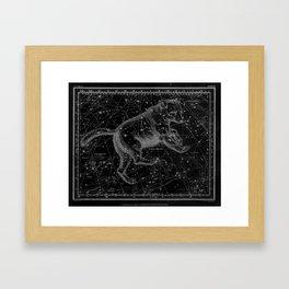 Ursa Major (Black) Framed Art Print