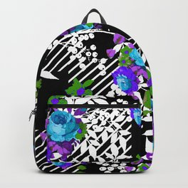 MODERN TOILE BLACK AND WHITE PATTERN Backpack