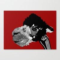 alpaca Canvas Prints featuring Alpaca by caseysplace