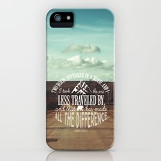 The Road Not Taken book quote Slim Case iPhone (5, 5s)