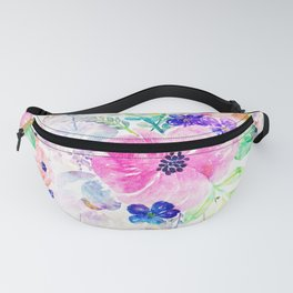 Pretty watercolor floral hand paint design Fanny Pack