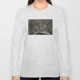 Vintage Map of The Shiloh Battlefield (1917) Long Sleeve T-shirt
