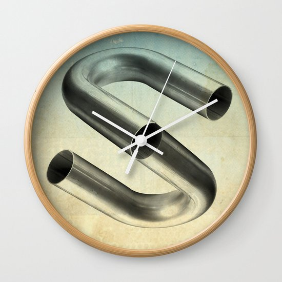 impossible tubes Wall Clock