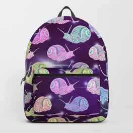 Psychedelic Space Snail Backpack