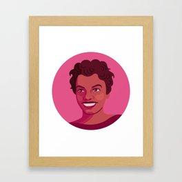 Queer Portrait - Lorraine Hansberry Framed Art Print