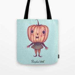 Pumpkin Witch Tote Bag