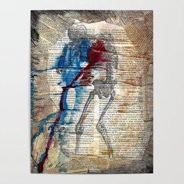 Vesalius mourning skeleton Poster