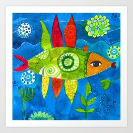 FISH2 Art Print