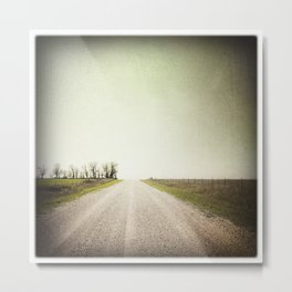 Road, Flint Hills, Kansas Metal Print